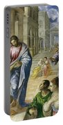 Christ Healing The Blind Portable Battery Charger