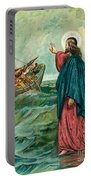 Christ Walking On The Sea Portable Battery Charger