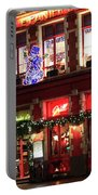 Christmas Decorations On The Buildings, Bruges City Portable Battery Charger