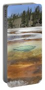 Chromatic Pool Hot Spring, Upper Geyser Portable Battery Charger by Richard Roscoe