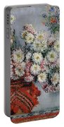 Chrysanthemums Portable Battery Charger by Claude Monet