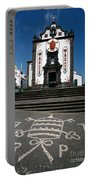 Church In The Azores Portable Battery Charger