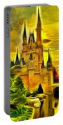 Cinderella Castle - Van Gogh Style Portable Battery Charger