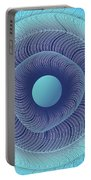 Circular Abstract Art Portable Battery Charger