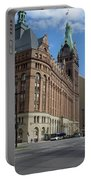 City Hall And Lamp Post Portable Battery Charger