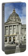 City Hall Portable Battery Charger by Nancy Ingersoll