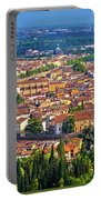 City Of Verona Old Center And Adige River Aerial Panoramic View Portable Battery Charger