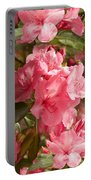 Close-up Of Pink Flowers In Bloom Portable Battery Charger