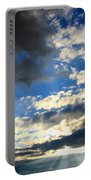 Clouded Sun Rays Portable Battery Charger