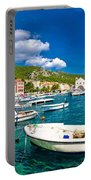 Coastal Town Of Hvar Waterfront Panorama Portable Battery Charger