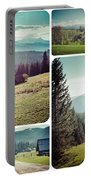 Collage Of Tatra Mountains Portable Battery Charger