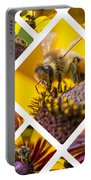 Collage Of Western Honey Bee Portable Battery Charger