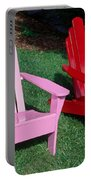 colorful Adirondack chairs Portable Battery Charger