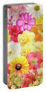 Colorful Floral Background Portable Battery Charger