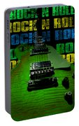 Colorful Music Rock N Roll Guitar Retro Distressed  Portable Battery Charger