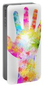 Colorful Painting Of Hand Portable Battery Charger