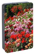 Colorful Spring Rose Garden Portable Battery Charger