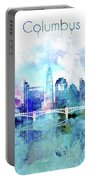 Columbus  Watercolor Skyline Portable Battery Charger