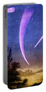 Comets In Night Sky Portable Battery Charger