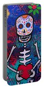 Corazon Day Of The Dead Portable Battery Charger