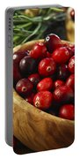 Cranberries In Bowls Portable Battery Charger