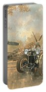 Cream Cracker Mg 4 Spitfires  Portable Battery Charger by Peter Miller