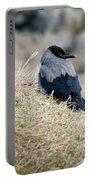 Crow In The Gras Portable Battery Charger