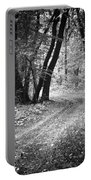 Curving Trail Entering Deciduous Forest Portable Battery Charger