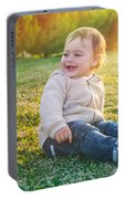 Cute Baby Boy Outdoors Portable Battery Charger
