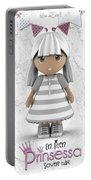 Cute Little 3d Girl Portable Battery Charger