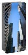 Dark Manhattan Skyscrapers Portable Battery Charger