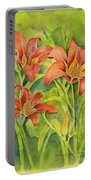 Day Lilies Portable Battery Charger