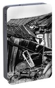 Decaying House Car Ghost Town Pearce Arizona 1968 Portable Battery Charger