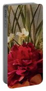 Decorative Mixed Media Floral A3117 Portable Battery Charger
