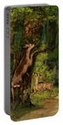 Deer In The Forest, 1868 Portable Battery Charger
