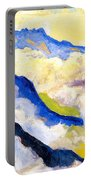 Dents Du Midi In Clouds Portable Battery Charger
