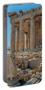 Detail Of The Acropolis Of Athens, Greece Portable Battery Charger