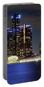 Detroit Skyline Panorama Portable Battery Charger