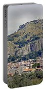 Distant View Of Cefalu Sicily  Portable Battery Charger