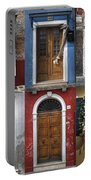 doors and windows of Burano - Venice Portable Battery Charger by Joana Kruse