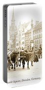 Dresden, Altmarkt Square, Germany, 1903 Portable Battery Charger