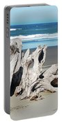 Driftwood On Beach Portable Battery Charger
