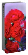 Early Morning Roses Portable Battery Charger