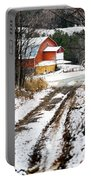 Early Winter Barn Portable Battery Charger