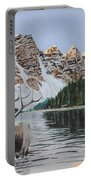 Elk In Moraine Lake Portable Battery Charger