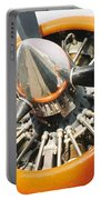 Engine And Propellers Of Aircraft Close Up Portable Battery Charger