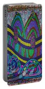 Ethnic Wedding Decorations Abstract Usring Fabrics Ribbons Graphic Elements Portable Battery Charger