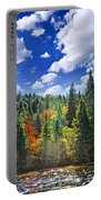 Fall Forest In Sunshine Portable Battery Charger