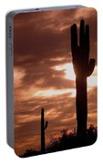 Film Homage Orson Welles Saguaro Cacti The Other Side Of The Wind Carefree Arizona 2004 Portable Battery Charger