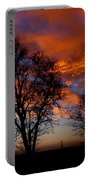 Fire In The Sky Portable Battery Charger by Peter Piatt